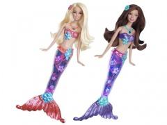 Barbie svietiace morská panna ASSTM